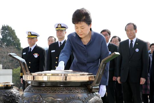 """박 대통령 """"북한의 도발은 정권 자멸의 길"""""""